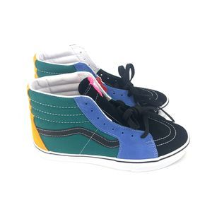 Vans Sk8-Hi Top Multi Color Skate Shoe Mens Size10